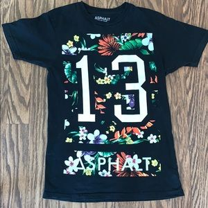 Asphalt Floral Graphic Tee Small